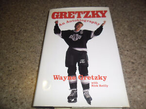 Signed first edition Gretzky book