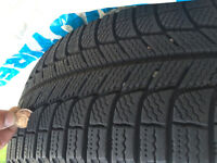 (4) Michelin X ICE winter tires 225/60/18