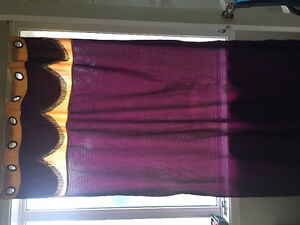 Window curtains long