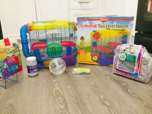 """20""""x11.5""""x16"""".  2 Level Hamster Cage & Accessories"""