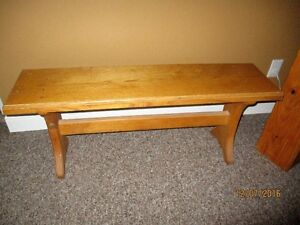 Solid Oak Hall Bench