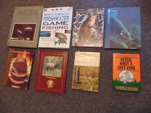 Assorted Hunting and Fishing books.