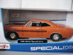 6 Diecast 1960's - 1970's  American muscle cars 1:24 scale