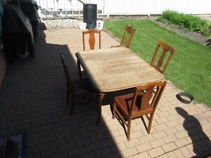 Antique Table and Chair set  possibly Oak
