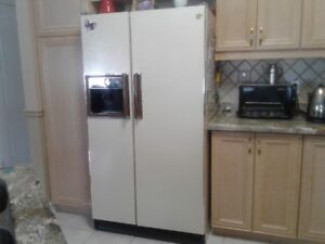 Used Hotpoint refridgerator side-by-side, french door