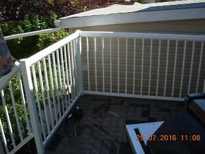White Regal deck railing