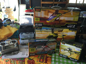 LOT OF Blade Helis Remote Control Helicopters PLUS gear!