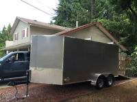 Cargo Trailer V nose 14ft extended tongue