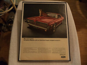 OLD MERCURY COUGAR CLASSIC CAR ADS Windsor Region Ontario image 1