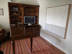 Desk With Shelves - Large Wooden Office Unit