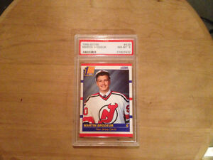 1990-91 score #439 Martin Brodeur rc grated at 8 by PSA
