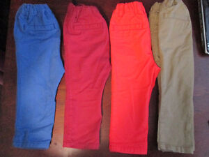 toddler boys skinny leg chino pants/summer outfit LOT