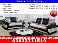 Brand New Diano Velvet 3 nd 2 Seater sofa Brick