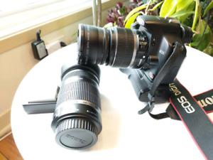 Canon EOS Rebel XSi 450D + EFs 55-250 + EFS 18-55 + accessories