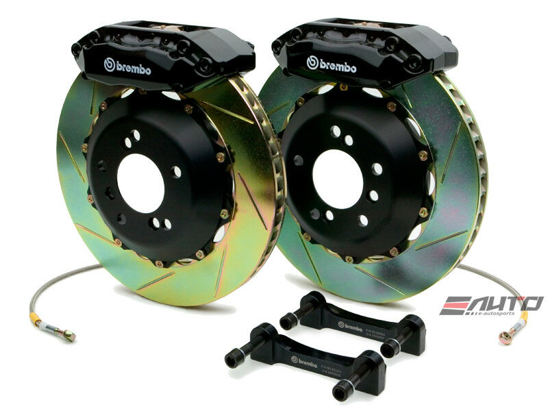 Brembo Front Gt Brake 4pot Black 328x28 Slot Civic 06-11 Fg1 Fg2 Fa1 Fa5 Ep3