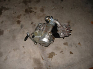Broken but complete Chinese 125cc dirt bike engine