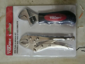 Hyper Tough Adjustable spanner wrench and Grip plier