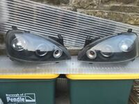 Halo headlights corsa c