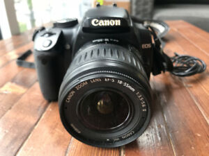 Canon EOS Digital Rebel XTi (body and lens)