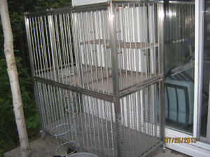 2 Tier stainless steel pet/animal cage