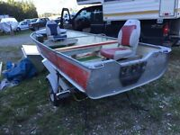14' boat on a trailer