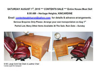 AUG 1st, 8AM, CONTENTS SALE – Heritage Heights, Kincardine