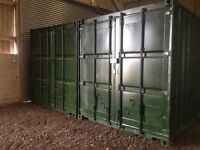 Storage containers INSIDE locked building for rent (SECURE, WIND/WATERPROOF)