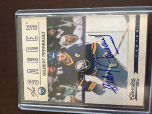 Certified Gilbert Perrault and Marcel Dionne autograph hockey