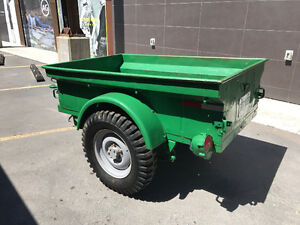 military trailer Toyota land cruiser green
