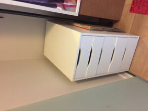 White IKEA office drawers