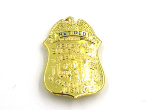 US FBI Retired Badge Money Clip Department of Justice Badge Clip