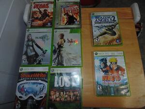 Lot de jeux usagés XBOX 360