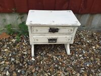 Tiny shabby chic chest