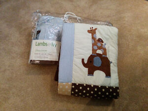 Lambs & Ivy Jake Bedding - Lambs and Ivy Crib Bedding LIKE NEW