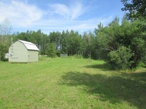 130' x 200' Building lot with shed, hydro and RV plug, Lee River