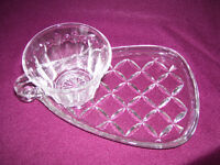 vintage glass hostess sets great for spring summer weddings/barb