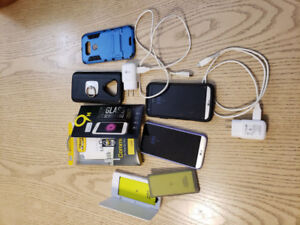 two lg g5 phones with accessories