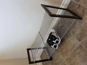 Metal/wood shoe rack