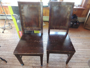 4 wooden chairs from Pier 1 imports