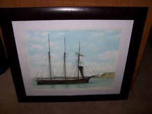 BEAUTIFUL SAILBOAT PRINT BY ROBERT DENNIS,SIGNED.SOLD AS FOUND.