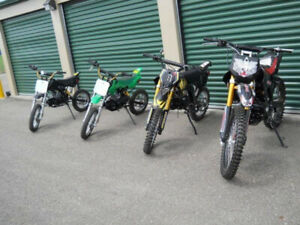 BRAND NEW KIDS DIRT BIKES / ADULT DIRT BIKES/110cc, 125cc, 250cc