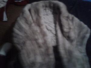 Womans Vintage Mink shoulder Cardigan