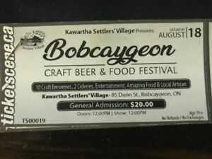 2 tickets to Bobcaygeon Craft Beer Festival