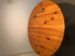 Solid wood circlular table for sale