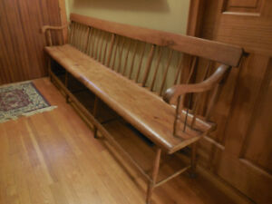 Early Antique Deacon's Bench
