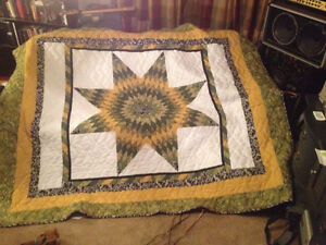the PERFECT Christmas gift, 100% handmade star quilt