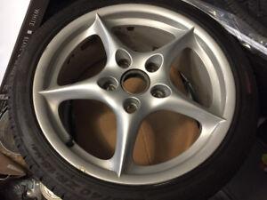 4 Mags Porsche 996 avec pneus