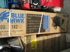 BLUE HAWK 10 CU FT POLY DUMP CART