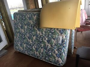 Used Double mattress, box spring, frame and memory foam  Strathcona County Edmonton Area image 1