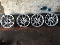 "BMW alloy wheels Genuine m-sport 18"" mv2 alloy whe"